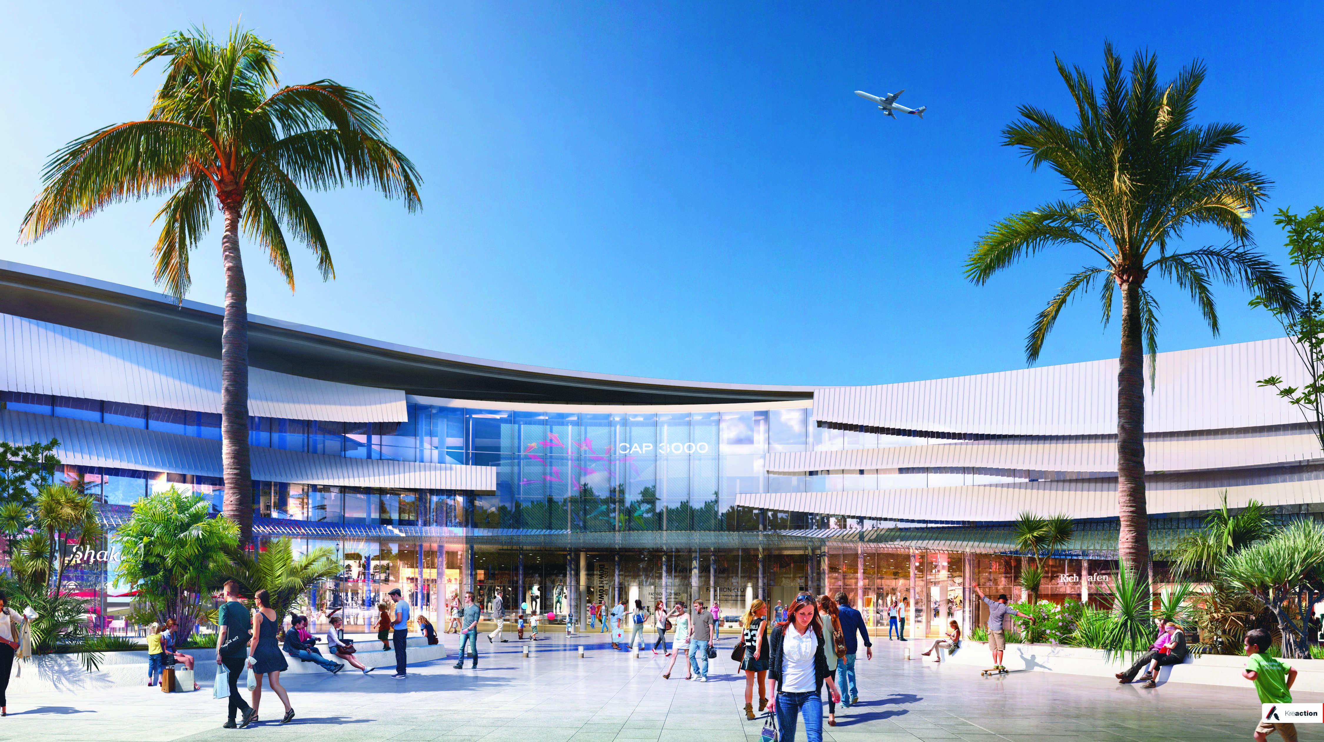 Centre commercial cap 3000 le projet d 39 extension for Projet extension