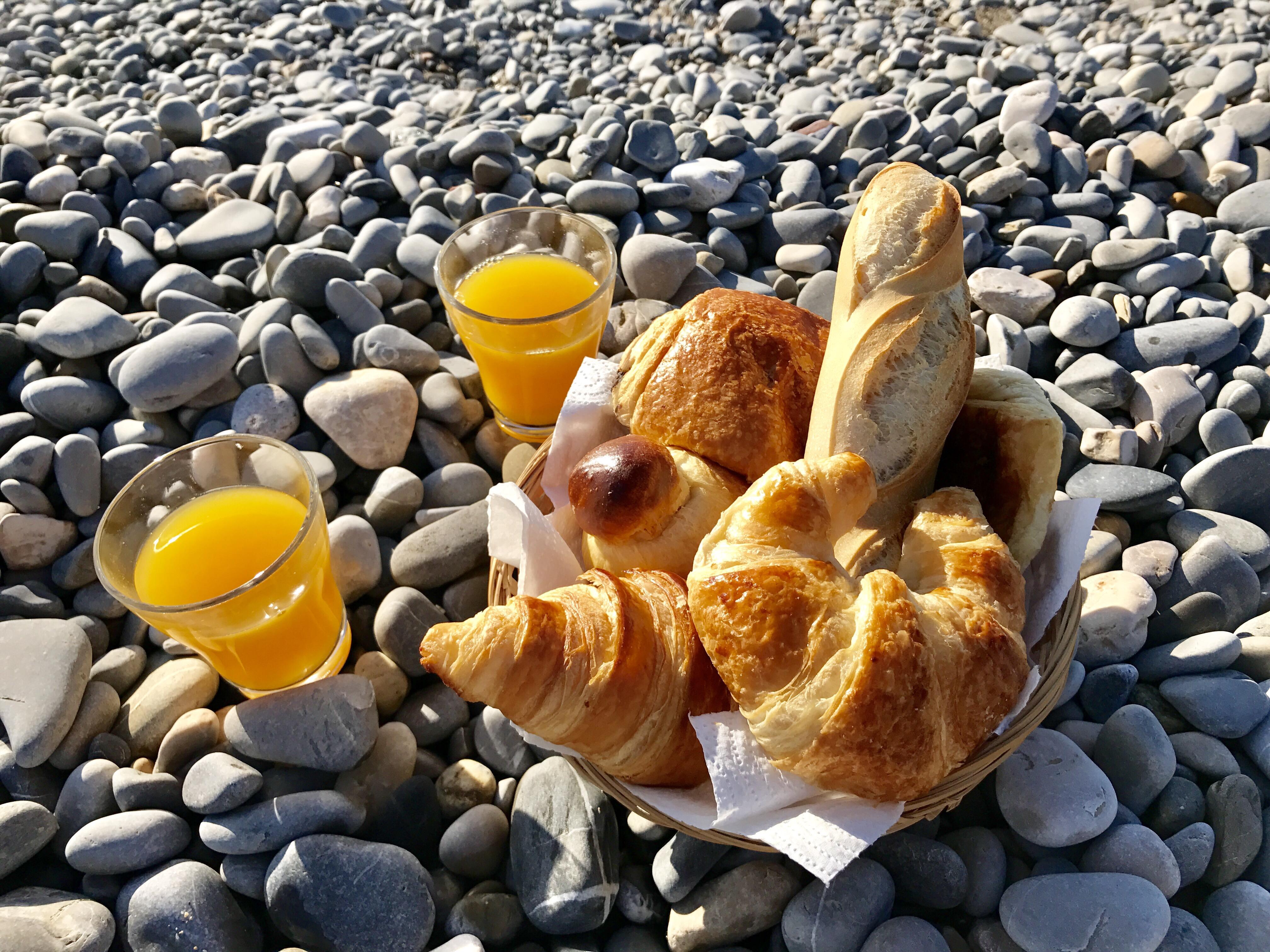 Petit déjeuner sur la plage