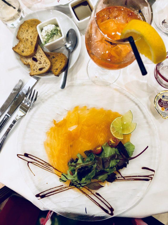 Restaurant le Siècle saumon fumé